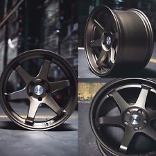 19x9.5 19x10.5 Inch +22 ESR SR07 5x114.3 Bronze Wheels Rims 350z 370z G35 G37