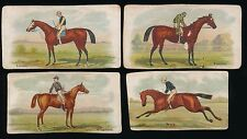 1888 N32 Allen & Ginter Cigarettes THE WORLD'S RACERS -Lot of 4 Banner Cards