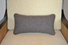 stuffed ready to use Lumbar Pillow Brown Mineral Umber Yakima Camp wool blanket