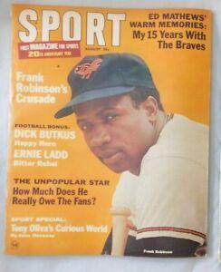 Frank Robinson Baltimore Orioles August 1966 SPORT Magazine vg