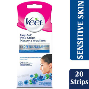VEET FACE COLD WAX STRIPS FOR SENSITIVE SKIN -  PACK OF 20
