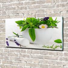 Acrylglas-Bild Wandbilder Druck 100x50 Deko Essen /& Getränke Kräuter in Mörser
