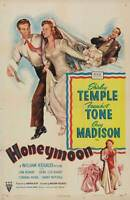 HONEYMOON Movie POSTER 14x36 Insert Shirley Temple Franchot Tone Guy Madison