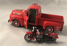 Harley Fire Truck With Motorcycle 1/26
