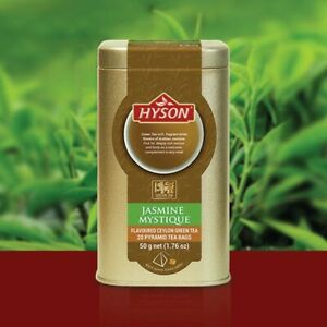 Hyson Jasmine Mystique Green Tea Pyramid Tea Bags 100% Natural Fresh Ceylon Tea