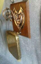 Antique Victorian Edwardian Tonks  Harmonic Ornate Copper Brass Wall Dinner Gong