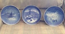 Lot of 3 Bing & Grondahl 1966 1972 B&G & 1967 Royal Copenhagen Christmas Plates