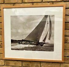 Beken of Cowes Britannia 1930 Sepia Silver Gelatin Framed Photograph No 5278