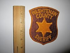 WASHTENAW COUNTY MICHIGAN SHERIFF POLICE EMBROIDERED PATCH MINT UNUSED