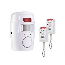 Funk Bewegungsmelder Haus Alarmanlage Alarm Infrarot Sensor + 2 Fernbedienungen