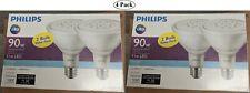(4 Bulbs) Philips LED PAR38 Flood 5000K Daylight 90W Replacement 1000 Lumens