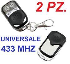 2 Telecomando Universale 4 canali/tasti.Cancello,cancelli automatici,433Mhz 433