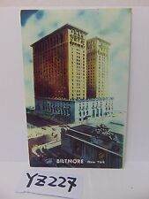 VINTAGE POSTED POSTCARD STAMP 1955 THE BILTMORE HOTEL NEW YORK CITY NY