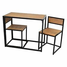 Space Saving Table And Chairs Breakfast Set || Kitchen Compact Dinner Table Wood