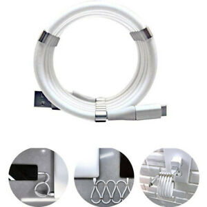 Portable Type-C USB Magic Rope Magnetic Data Cable Self Winding Charging Cable