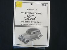 Williams Bros Inc 1935 Ford 4 Door Coupe Sedan HO Scale Model Kit 536 Gangster