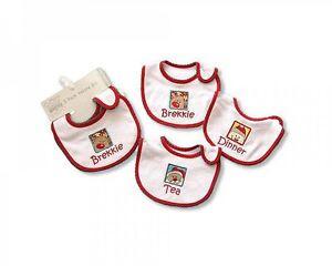 Nursery Time Baby Christmas Xmas  Bibs 3 Pack  Girl Boy - 622