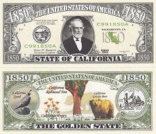 100 California Ca State Quarter Novelty Money Bills Lot