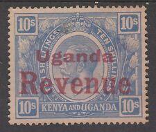 UGANDA 1922 KGV REVENUE OVERPRINT 10/- NO GUM