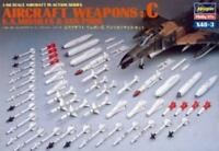 Hasegawa X48-3 AIRCRAFT WEAPONS C U.S. MISSILES & GUN PODS 1/48 Scale Kit Japan