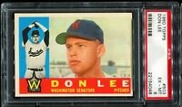1960 Topps Baseball #503 DON LEE WASHINGTON SENATORS PSA 6 EX-MT