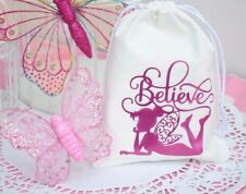 Fairy Drawstring Favour Treat Bags Handmade Lolly Loot Bags Tinkerbell Party