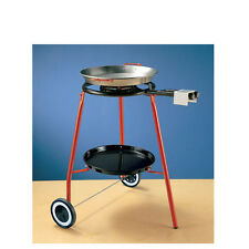 Paella Pan + Paella Burner and Stand Set - Complate Paella Kit on Wheels !!