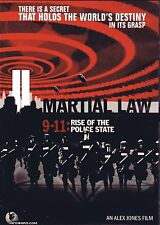 MARTIAL LAW - 9-11 Rise of the Police State - Alex Jones DVD - OVP