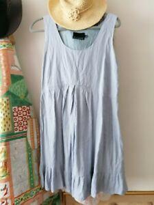 Cynthia Rowley Powder Blue Linen Dress Size 14