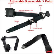 A Set Universal Car Auto Vehicle Adjustable Retractable 3 Point Safety Seat Belt