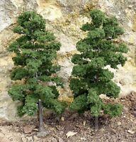 """LAUB Bäume 2 STÜCK 18cm HÖHE passend zu 1:32 """"MADE in GERMANY""""          2L"""