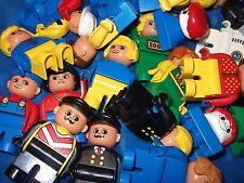 Lego Duplo 10 X Figur Figuren Männchen Papa Mama Kind Bauarbeiter Motorik