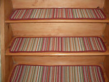 15 Step  9'' x 35'' + 1 Runner 35''x 79'' Stair treads Tufted carpet Wool Blend.