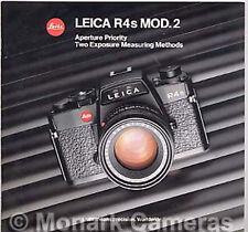 Leica R4s Mod 2 electrónico cámara y lente folleto de ventas, más catálogos indicados