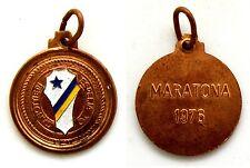 Medaglia Con Vernice Canottieri Esperia Torino - Maratona 1976 Bronzo