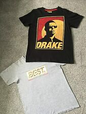 Licensed Girls Boys Unisex DRAKE T-Shirt & BEST CLOTHING LEEDS Top Age 12-13 Yrs