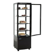 Polar DP289 Black Chilled Cake Display Chiller Curved Glass 1690Hx515Wx485Dmm