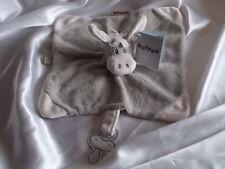 Doudou âne, cheval gris, bandana gris/pois blanc, Nattou