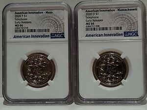 2020 P&D American Innovation Massachusetts Telephone NGC MS66