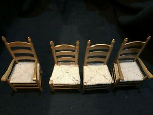 Dolls House 1/12 Ladderback Chairs Kitchen Dining Room Furniture F711