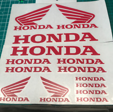 14 X HONDA Motorcycle RACING STICKERS Belly-Pan Tank Vinyl Decals