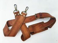 "Vintage Tan Leather 1"" Shoulder Strap Replacement for Handbags Laptop Briefcase"