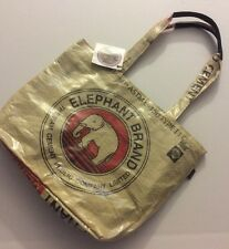 NWT LIFETOTES Red Elephant Charity Zip Top Tote Bag