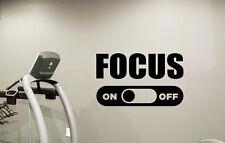 Gym Motivational Wall Art Decal Focus Sport Fitness Vinyl Sticker Decor 75quo
