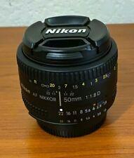 Nikon AF NIKKOR 50mm f/1.8D Lens - Black, super clean