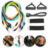 NEW RESISTANCE BANDS WORKOUT EXERCISE YOGA 11 PIECE SET CROSSFIT FITNESS TUBES A