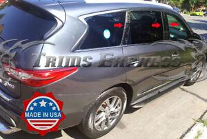 fit:2013-2020 Infiniti JX35 QX60 6Pc Chrome Pillar Post Stainless Steel Trim