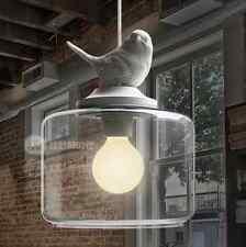 Bird Lamp Vintage Big Bedroom Light Classic Pendant Lighting  Glass Chandeliers