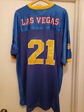 Dc Classic blue-gold Las Vegas Spade #21 Short Sleeve Polyester Jersey Size -2Xl
