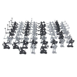 60pcs / Set Medieval Warriors Soldiers Figures Model Game Toy for